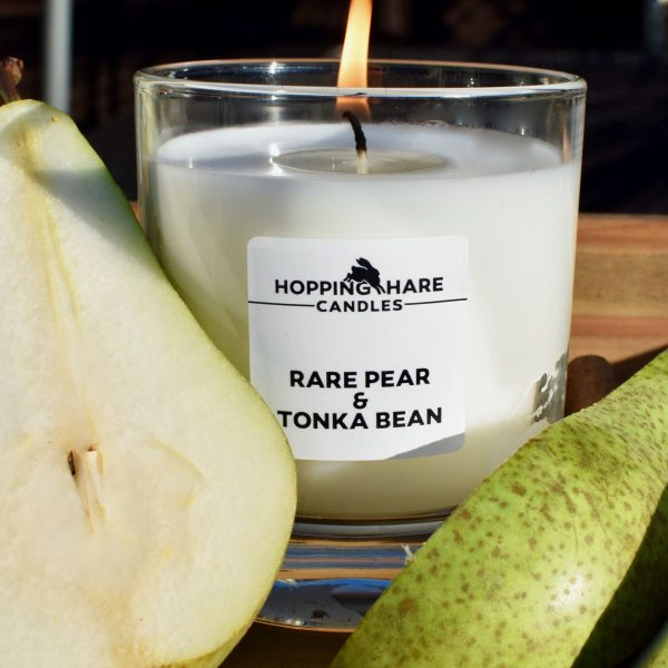 Rare Pear and Tonka Bean Luxury Fragrance Oil Candle